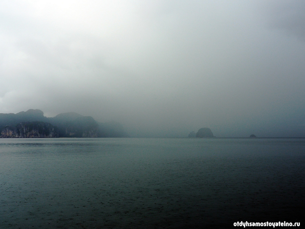 дождь на лодке - филиппины