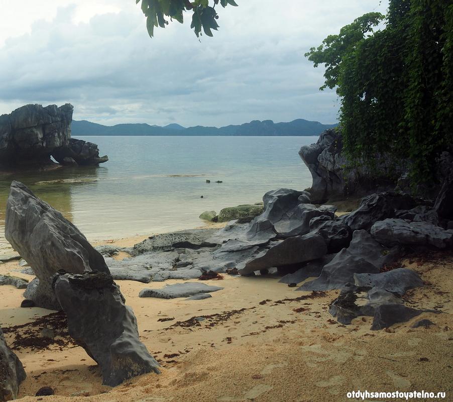 plyazh skaly pinagbuyutan island philipiny