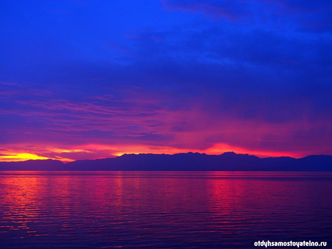 огненный закат на филиппинах