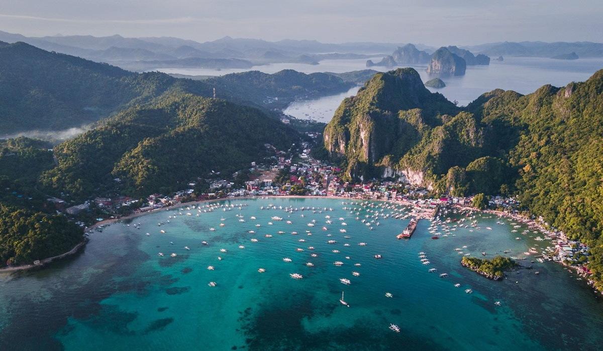 Фото Эль Нидо с высоты (квадрокоптер), Филиппины