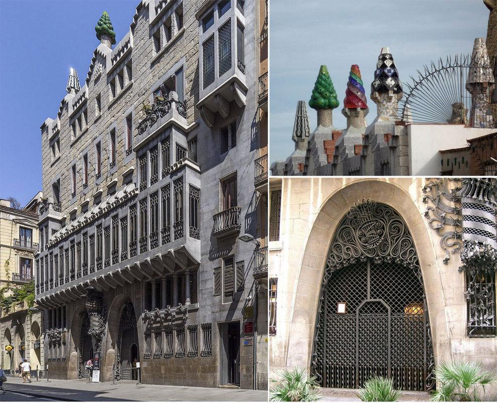 Фото Дворца Гуэля - одной из самых необычных достопримечательностей Барселоны и пожалуй всей Испании