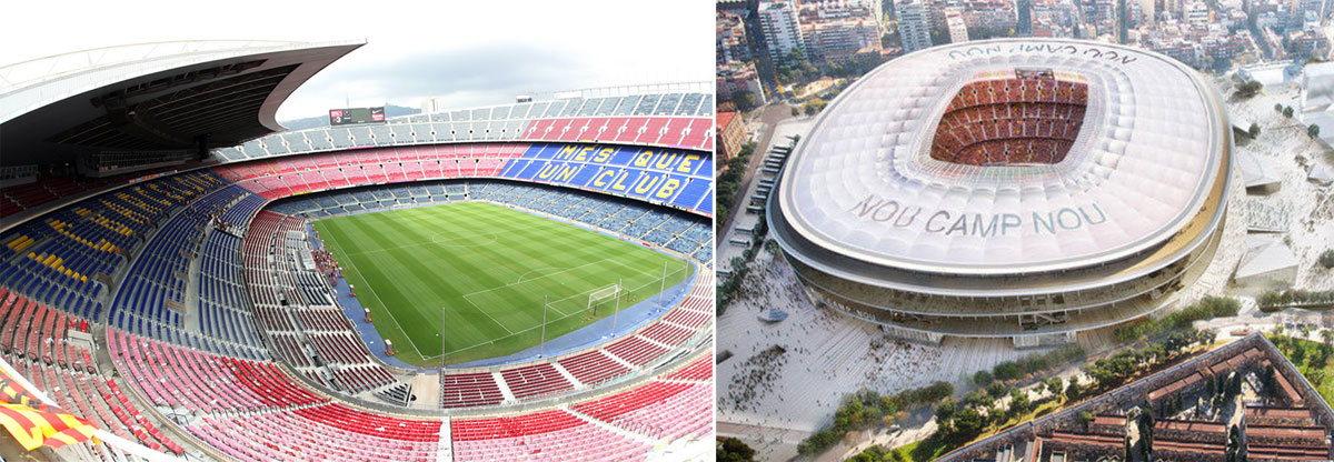 Фото на стадионе Камп Ноу - обязательный пункт посещения Барселоны для тех, кто увлекается футболом