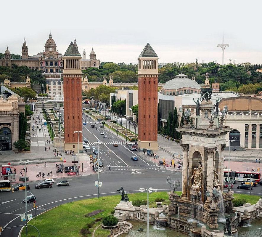Фото на достопримечательности Барселоны со смотровой площадки ТЦ Las Arenas