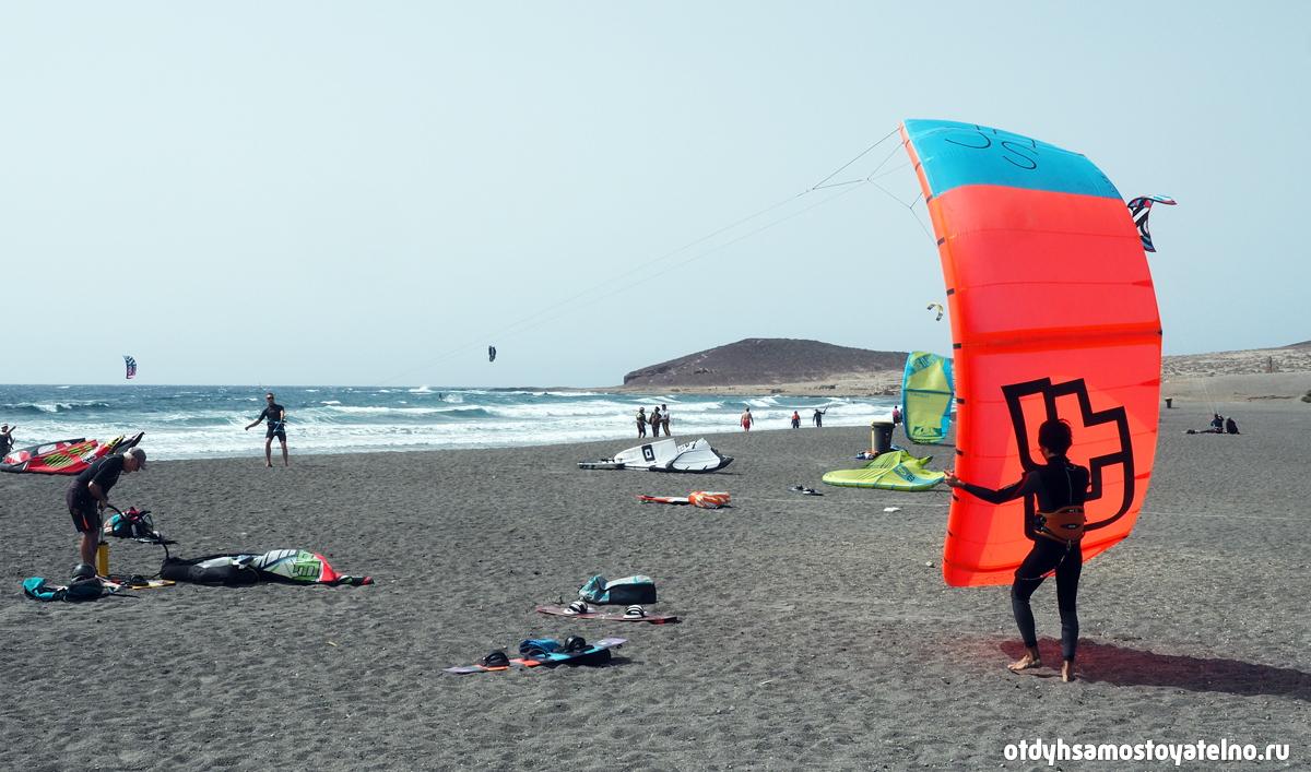 Пляж Leocadio Machado кайтсерфинг