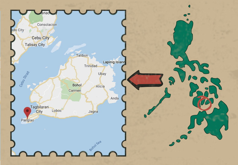 Где находятся Бохол и Панглао на карте Филиппин