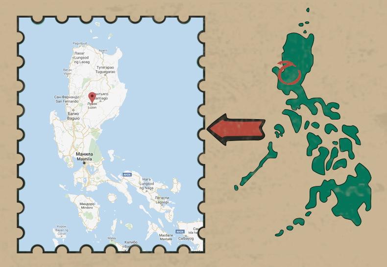 Карта острова Лусон, Филшиппины