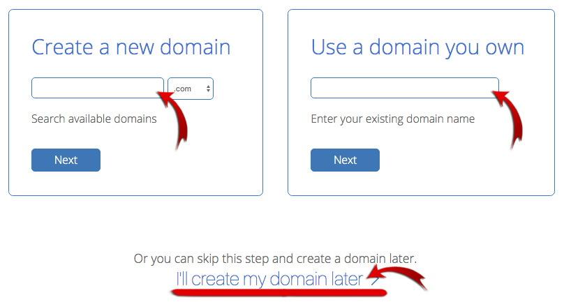 Придумайте и введите домен - как создать блог в 2021