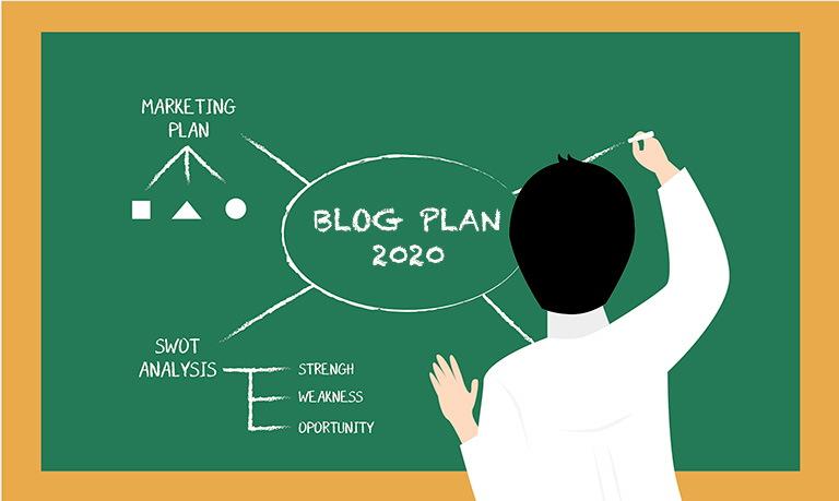 План развития блога 2020