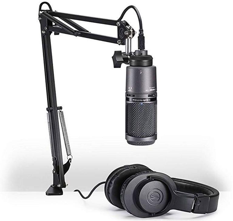 Высокодинамичный микрофон audiotechnica at2020usb - для подкастов