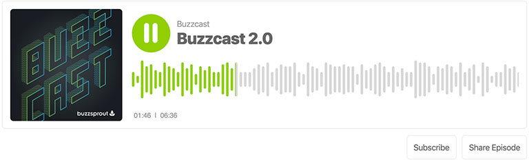 Хостинг подкаста buzzstrout - плеер