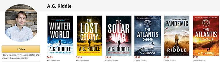 AG Riddle - автор заработавший миллионы долларов на написании и продаже книг в амазон