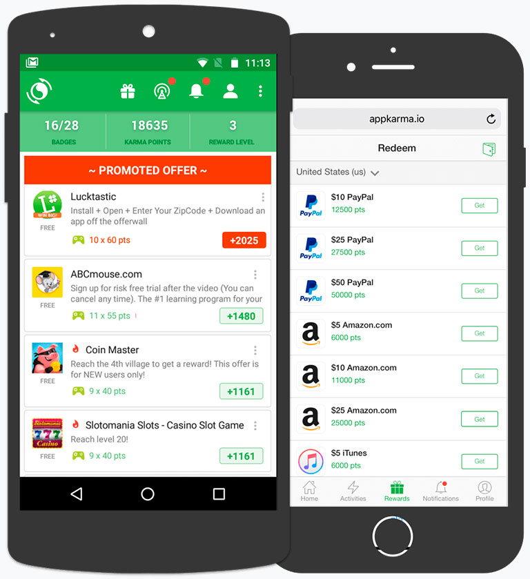 appkarma - сервис для быстрого заработка денег в интернете на мобильном телефоне