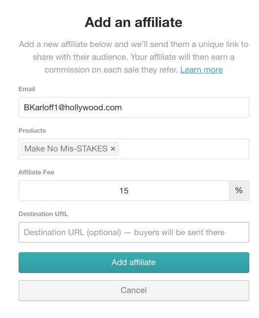 продавайте свои товары на чужих сайтах через аффилейт программу gumroad