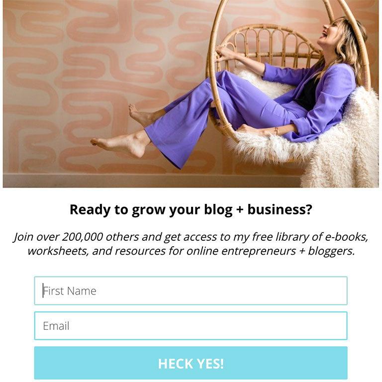 melissa griffin - пример блога зарабатывающего на цифровых продуктах