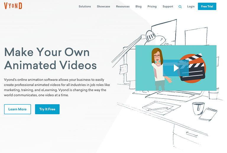 vyond - сервис для создания анимированных видеороликов