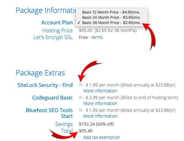 Платежные данные при регистрации - как создать блог
