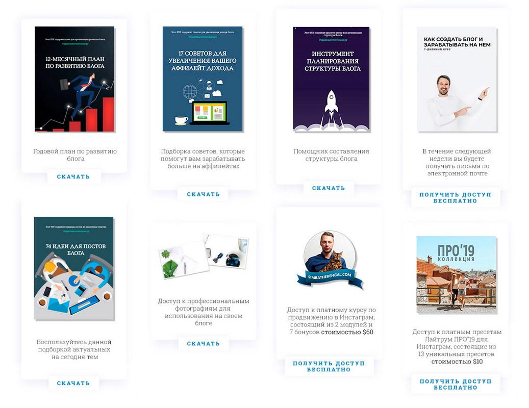 Ваш бонус - обучающие материалы при покупке хостинга Bluehost для вашего блога