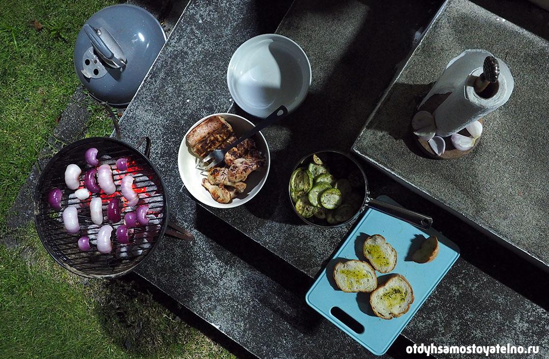 кухня самостоятельно на сейшелах - гриль
