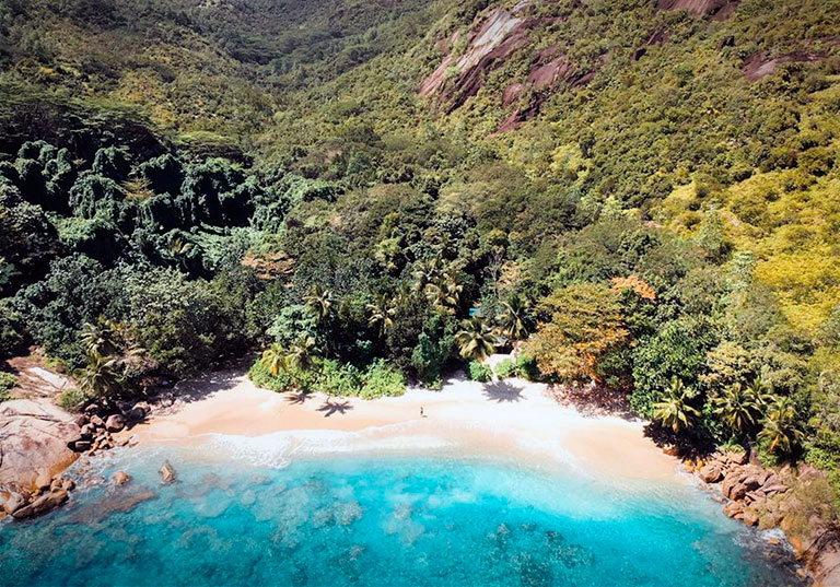 пляж anse major сейшелы маэ