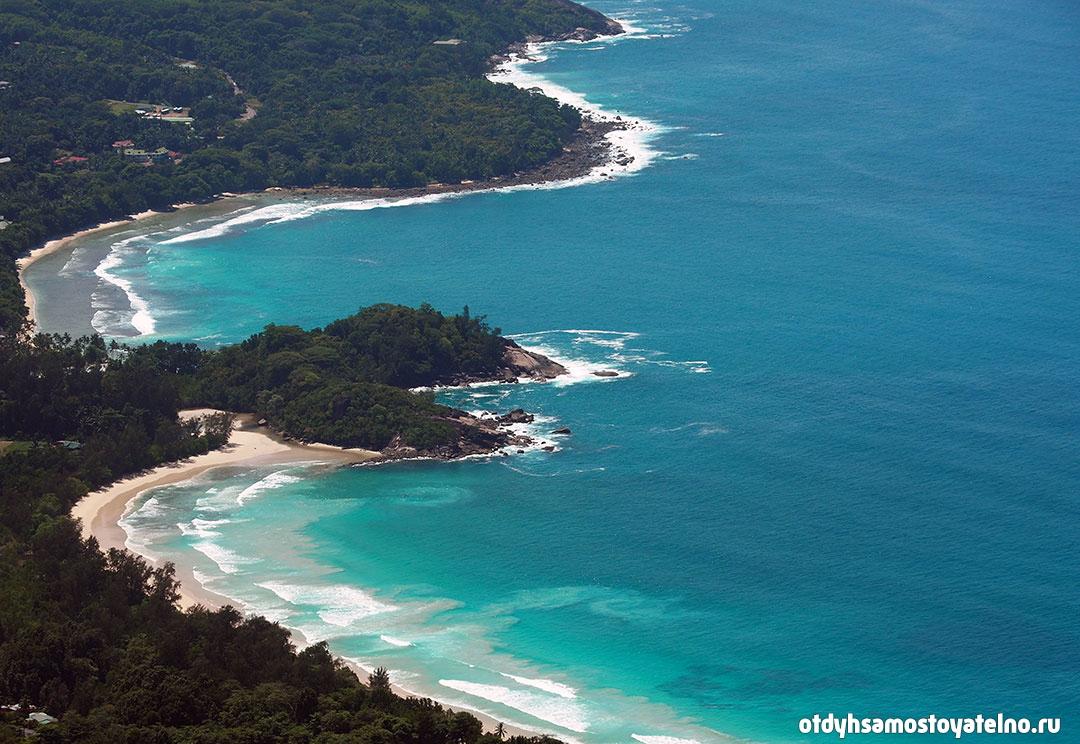 Фотография вида со смотровой - сейшельские острова