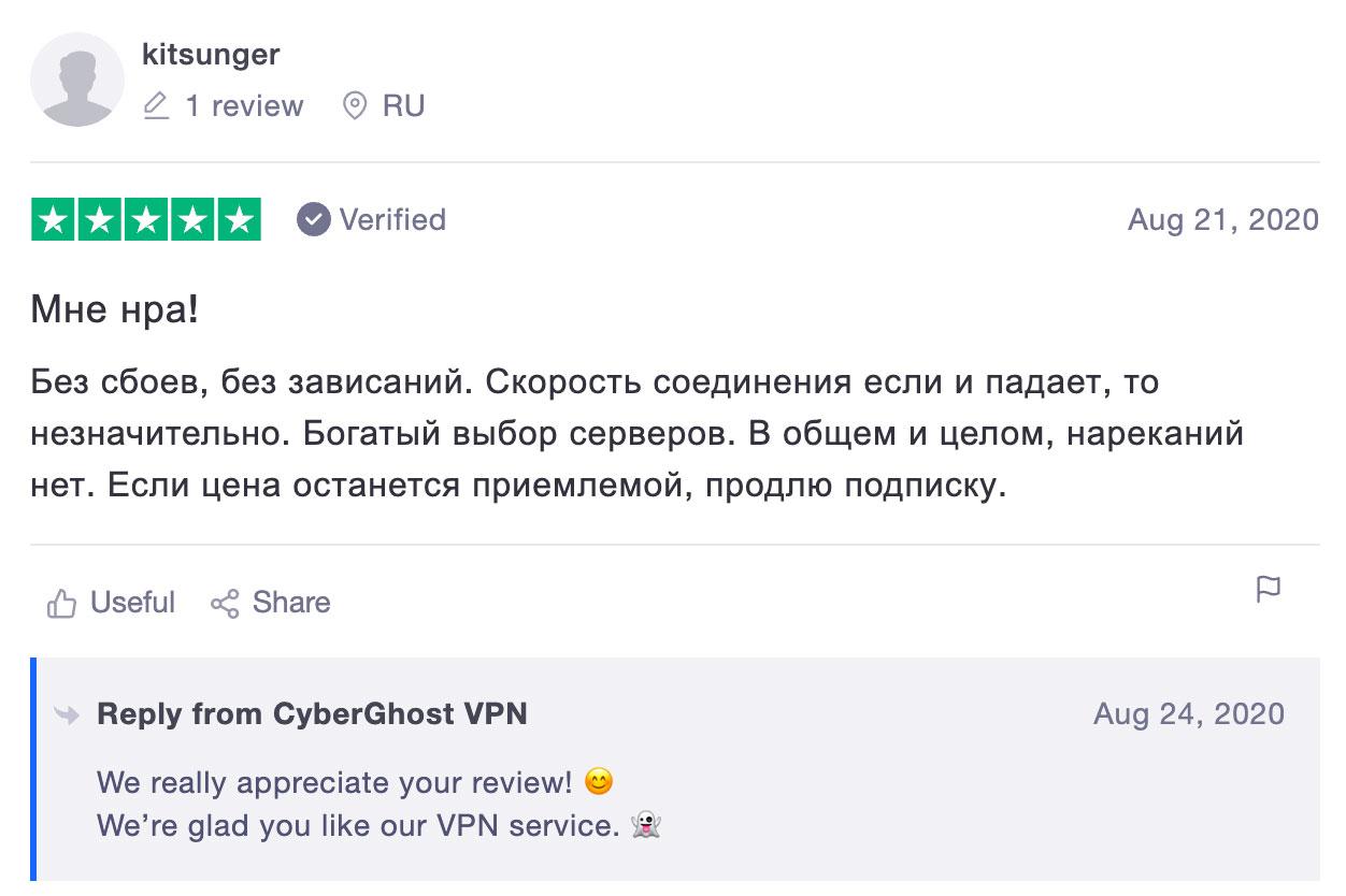 отзыв cyberghostvpn