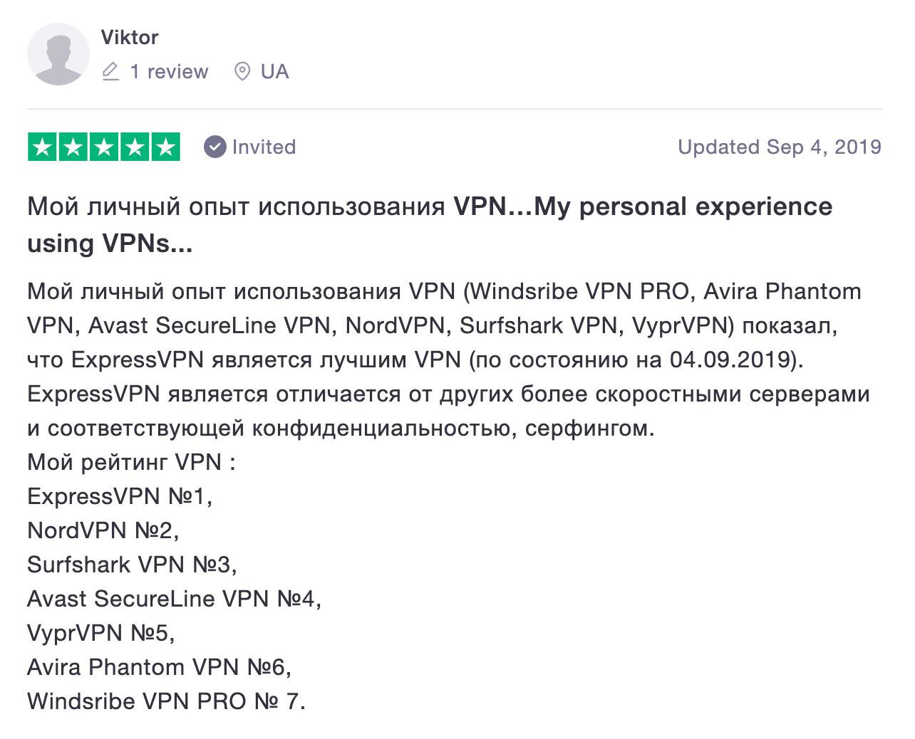отзыв лучшего vpn сервиса №2 expressvpn