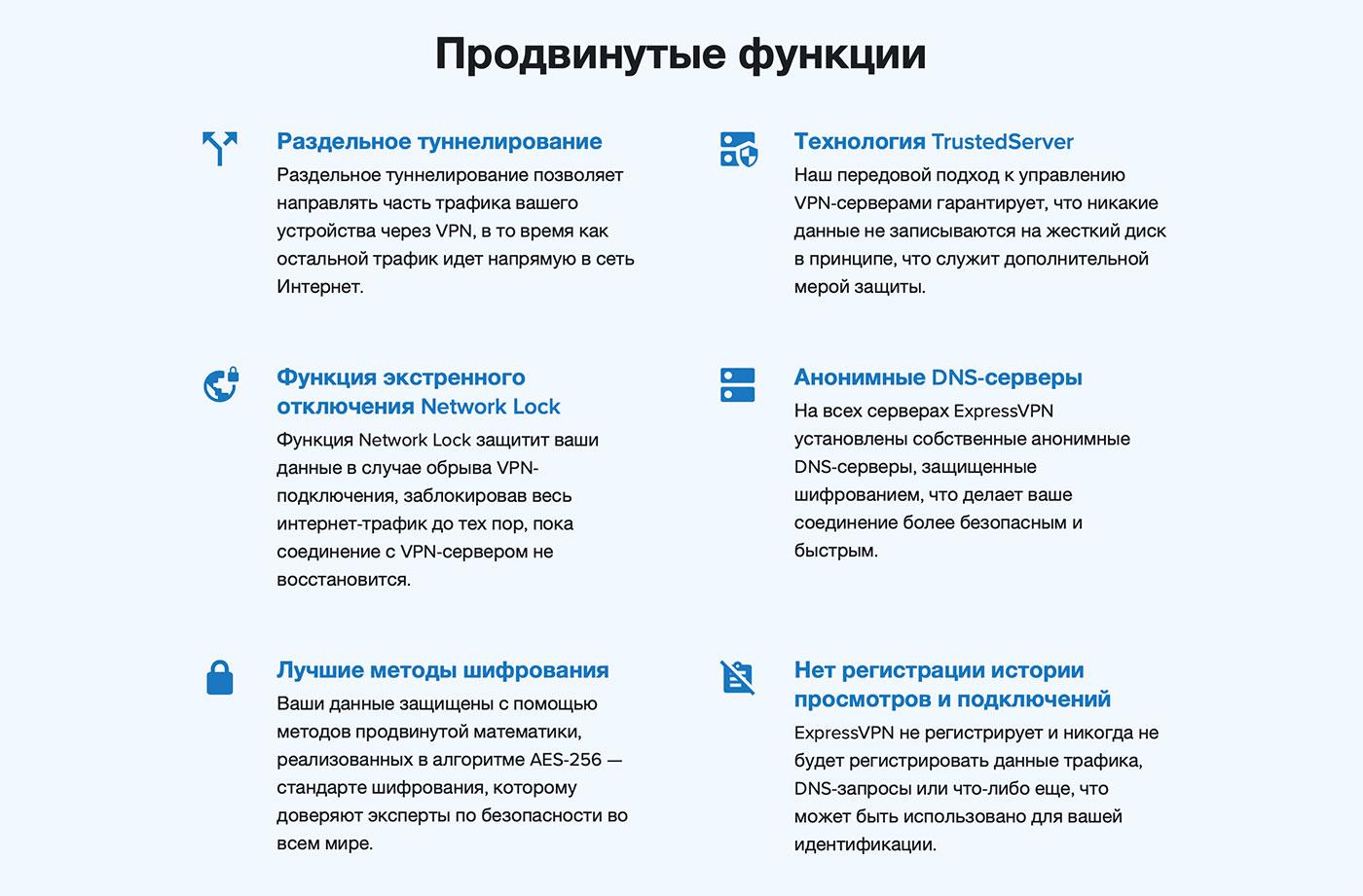 продвинутые функции лучшего vpn сервиса №2 expressvpn