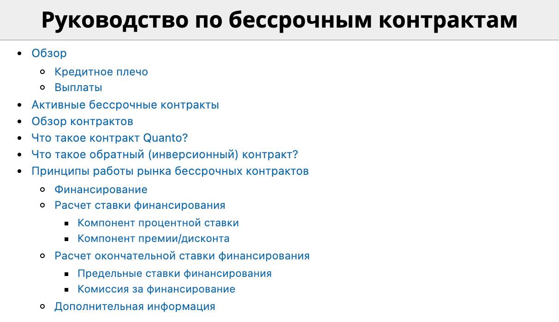 bitmex руководства