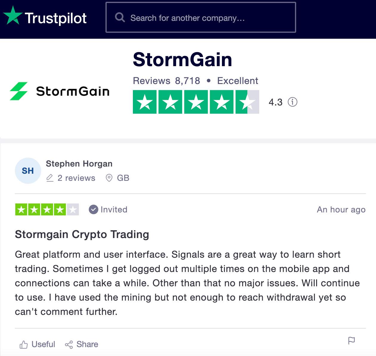 stormgain отзывы биржа криптовалют