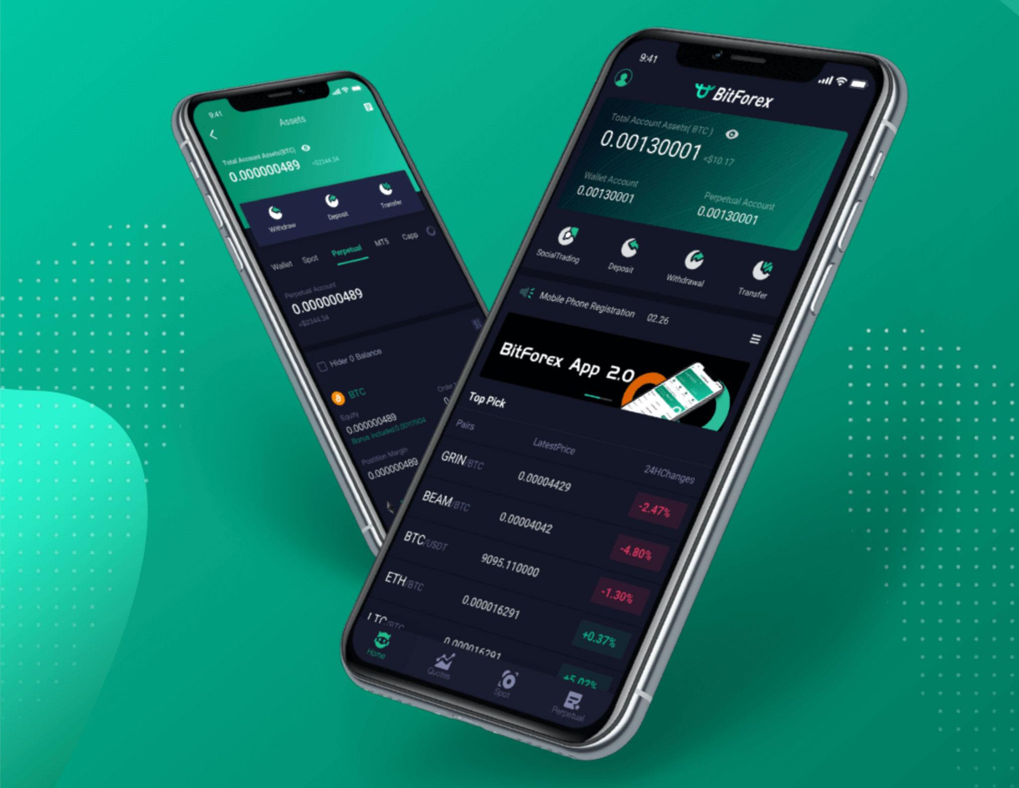 bitforex мобильное приложение