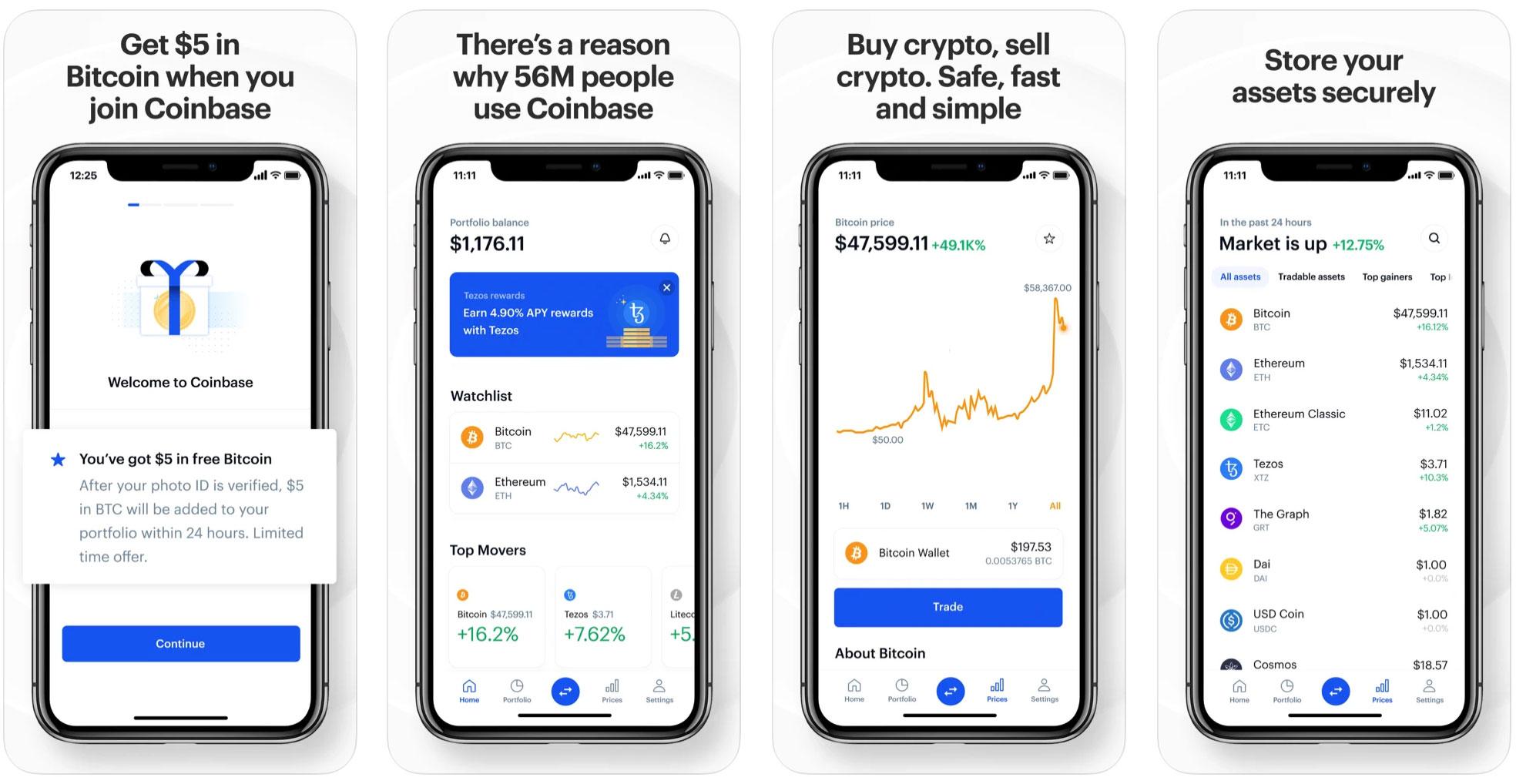 coinbase мобильное приложение