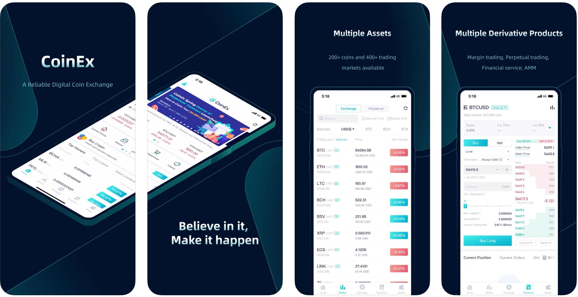 coinex мобильное приложение