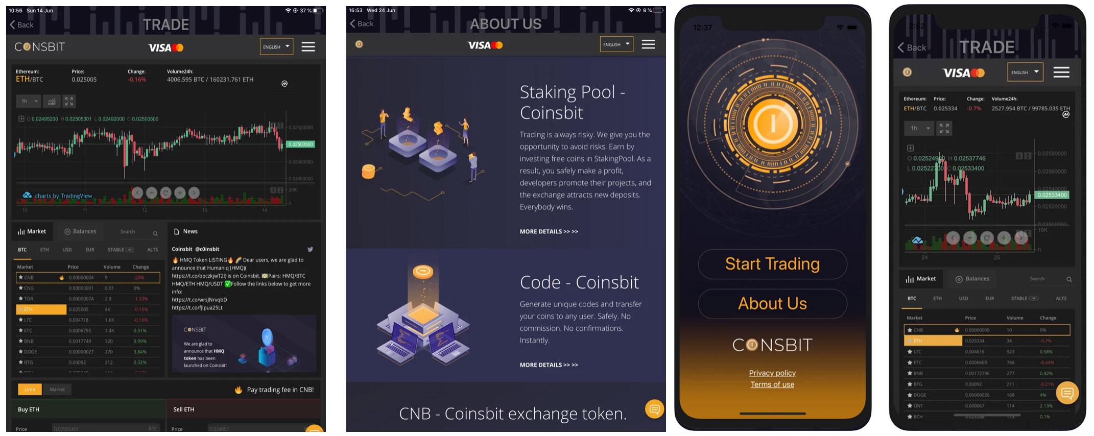 coinsbit мобильное приложение