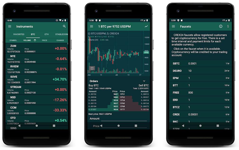 crex24 мобильное приложение