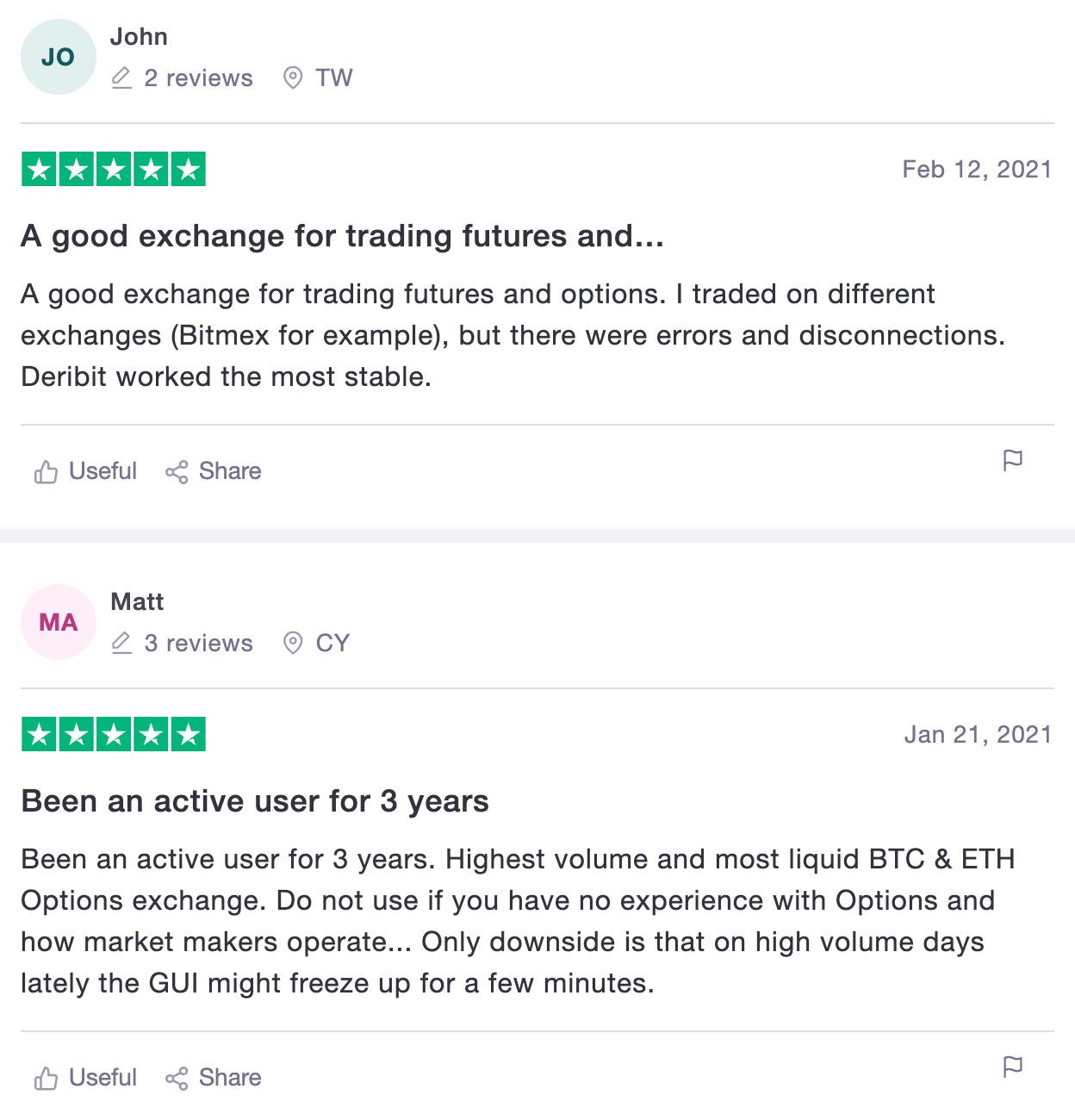 deribit отзыв биржа криптовалют